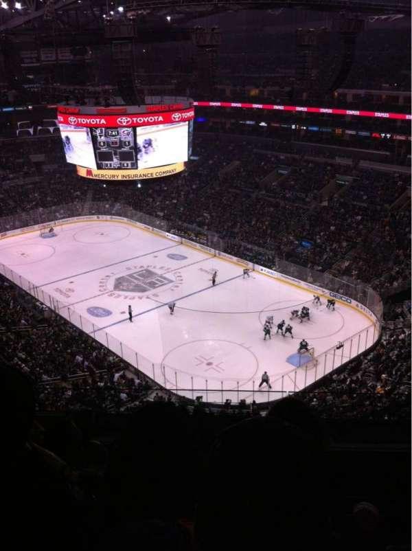 Staples Center, sección: 313, fila: 9, asiento: 10