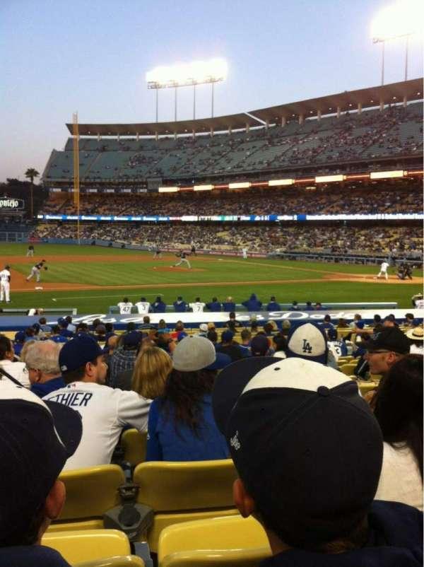 Dodger Stadium, sección: 23FD, fila: N, asiento: 6