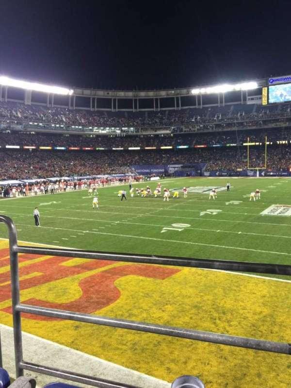SDCCU Stadium, sección: P55, fila: B, asiento: 3