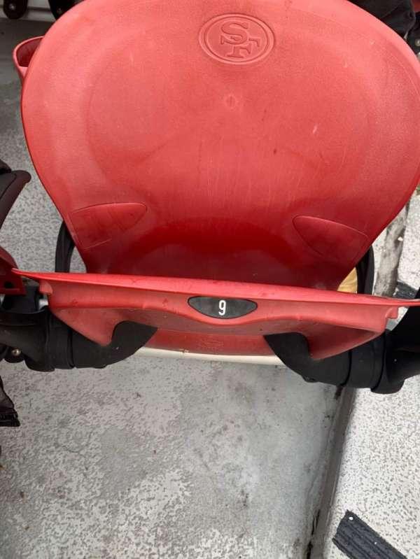 Levi's Stadium, sección: 124, fila: 1, asiento: 9