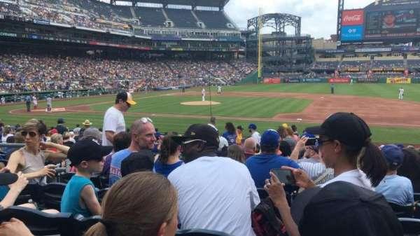 PNC Park, sección: 109, fila: H, asiento: 11