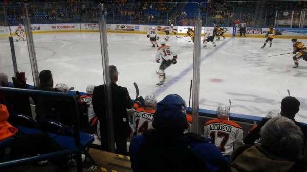 Mohegan Sun Arena at Casey Plaza, sección: 104, fila: F, asiento: 19