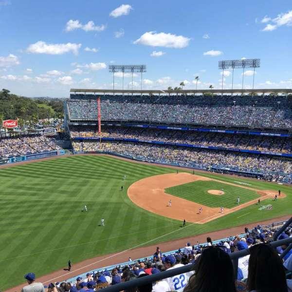 Dodger Stadium, sección: 41RS, fila: CC, asiento: 8