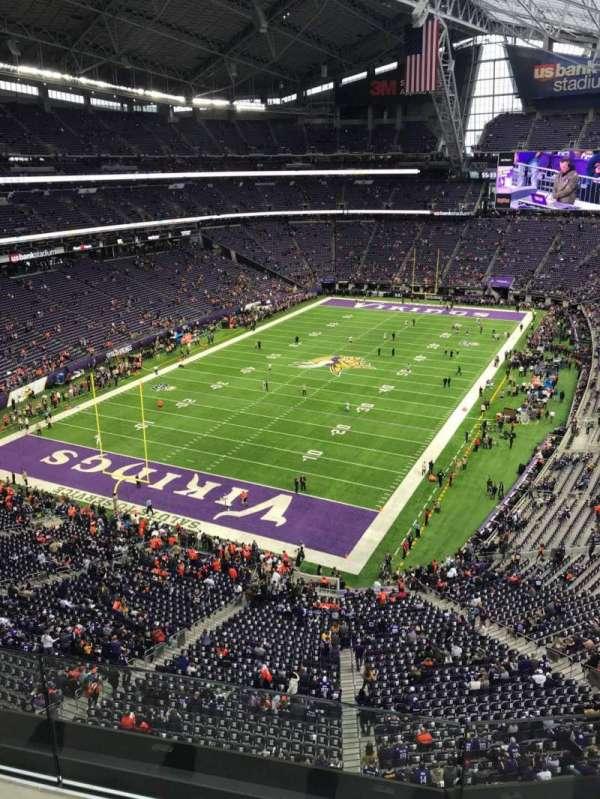 U.S. Bank Stadium, sección: 351, fila: B, asiento: 6