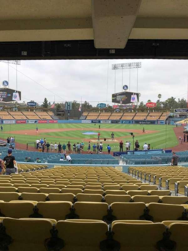 Dodger Stadium, sección: 3FD, fila: W, asiento: 4