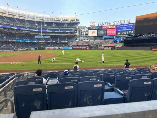 Yankee Stadium, sección: 113, fila: 1, asiento: 9