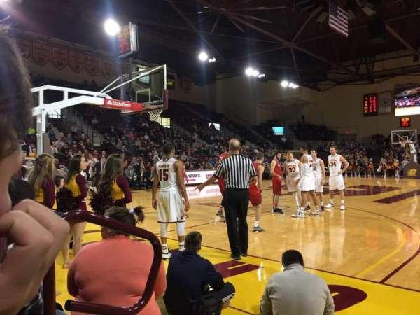 McGuirk Arena, sección: 108, fila: 2, asiento: 2