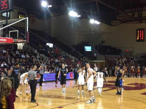McGuirk Arena, sección: 108, fila: 3, asiento: 1