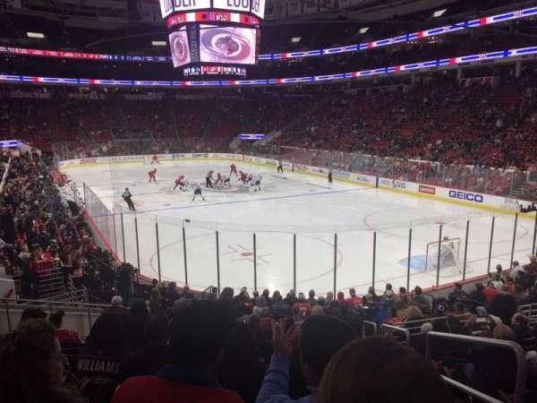 PNC Arena, sección: 129, fila: S, asiento: 1