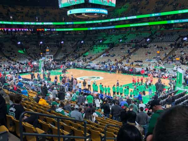 TD Garden , sección: Loge 20, fila: 18, asiento: 18, 19