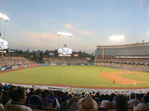 Dodger Stadium, sección: 146LG, fila: O, asiento: 8