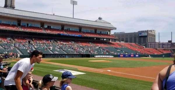Sahlen Field, sección: 116, fila: D, asiento: 10