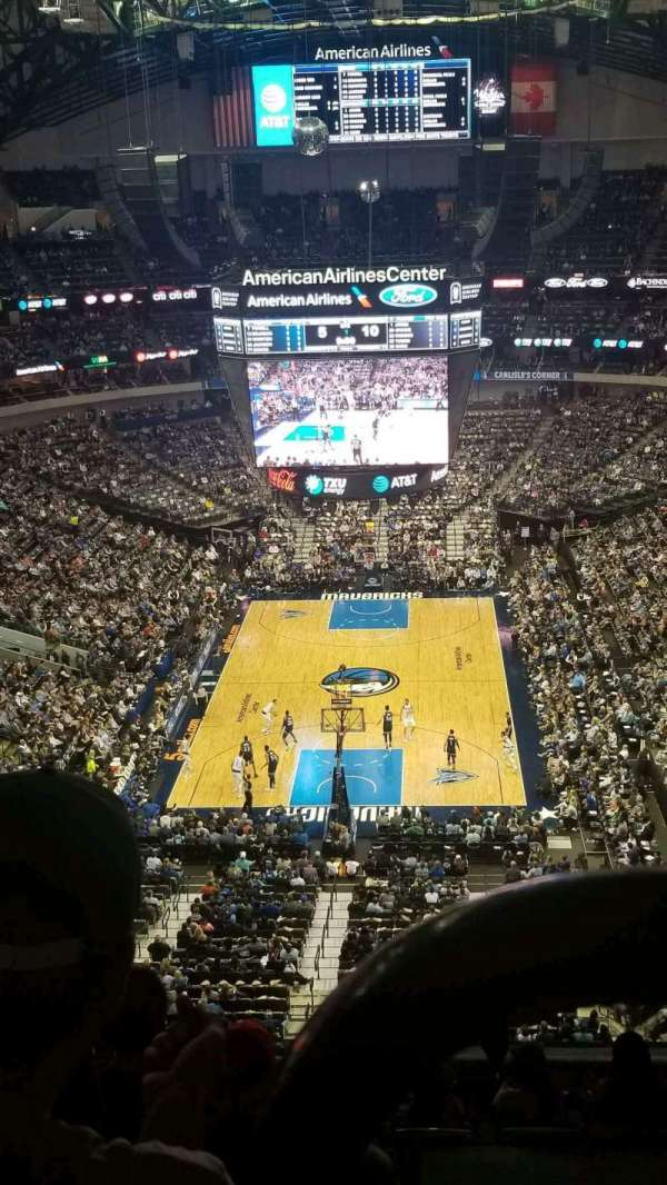 American Airlines Center, sección: 318, fila: K, asiento: 3