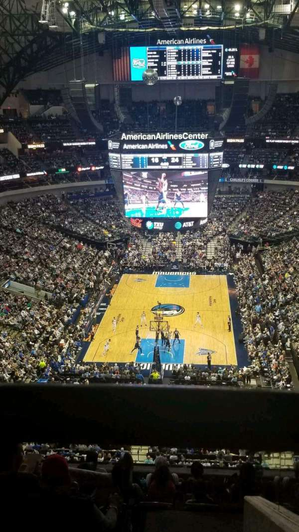 American Airlines Center, sección: 318, fila: K, asiento: 2