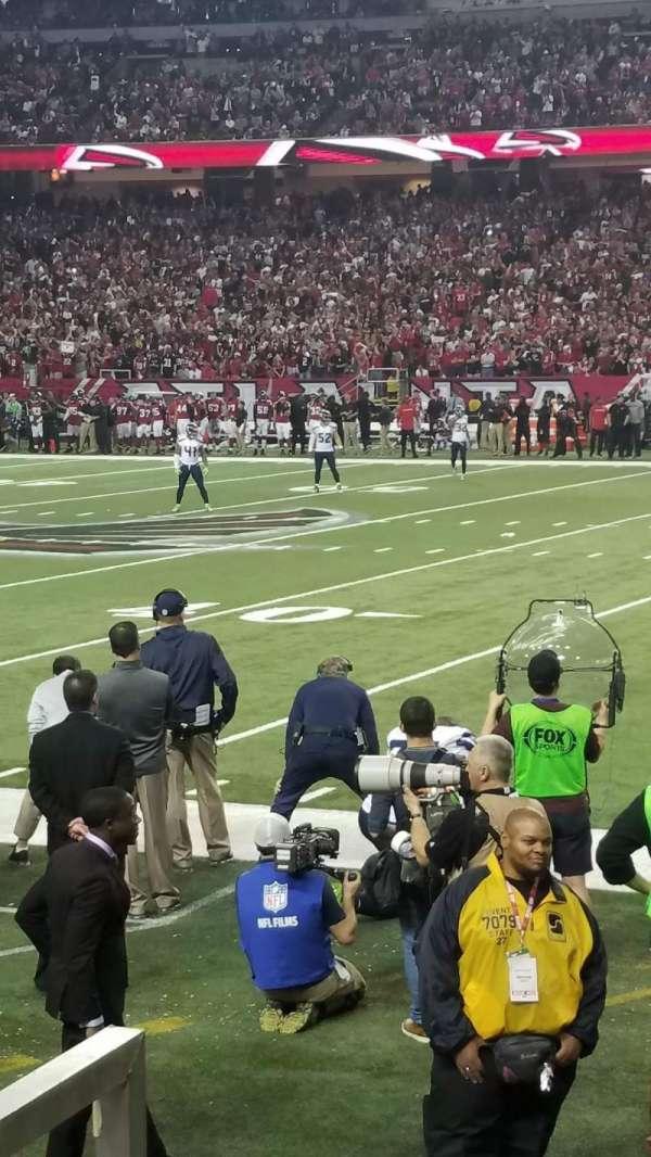 Georgia Dome, sección: 133, fila: 3, asiento: 3