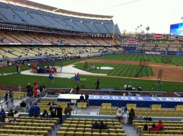Dodger Stadium, sección: 132LG, fila: A, asiento: 1