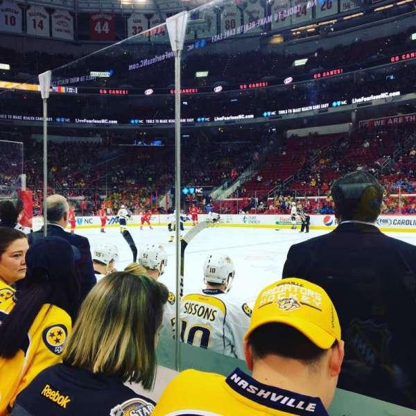PNC Arena, sección: 103, fila: D, asiento: 12