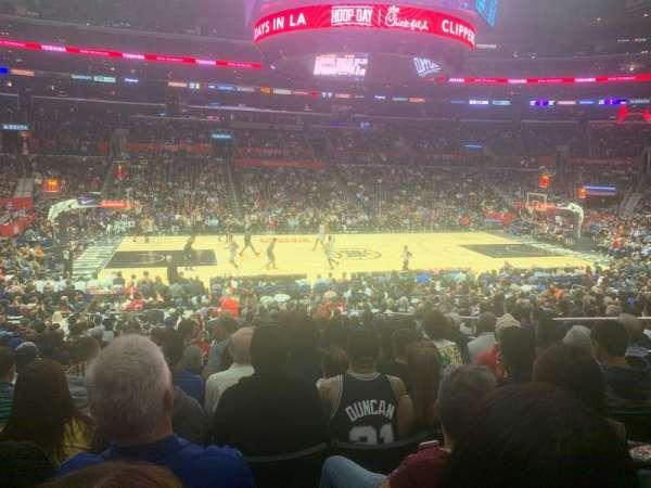 Staples Center, sección: 102, fila: 20, asiento: 5