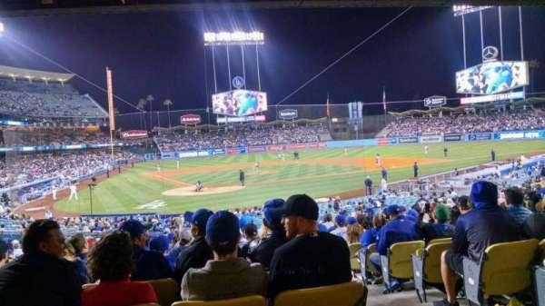 Dodger Stadium, sección: 6FD, fila: W, asiento: 12