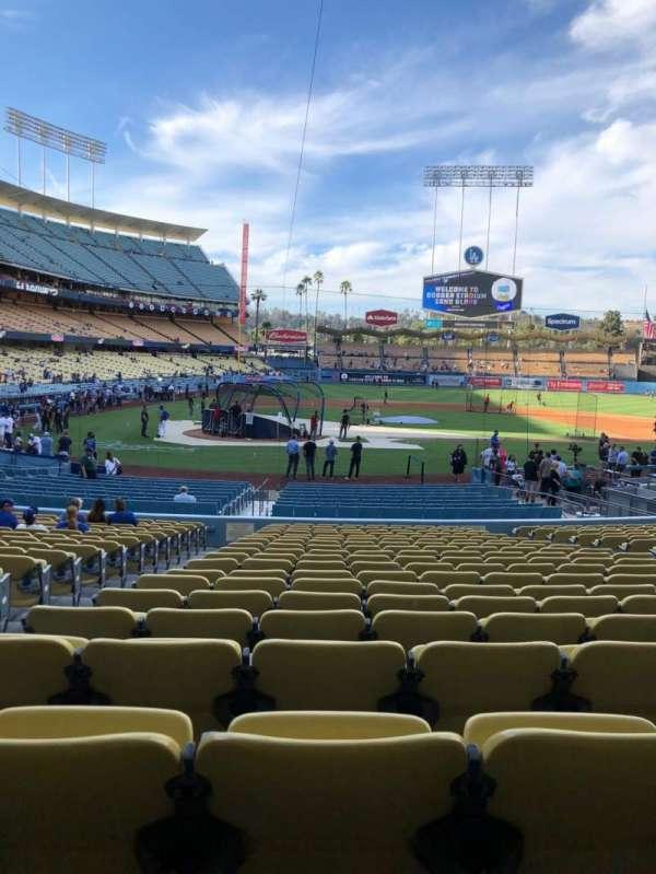 Dodger Stadium, sección: 10FD, fila: U, asiento: 3
