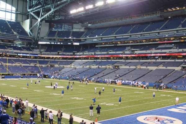 Lucas Oil Stadium, sección: 105, fila: 16, asiento: 11