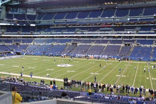 Lucas Oil Stadium, sección: 210, fila: 6, asiento: 13