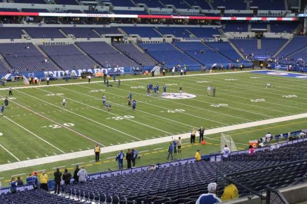 Lucas Oil Stadium, sección: 217, fila: 8, asiento: 13