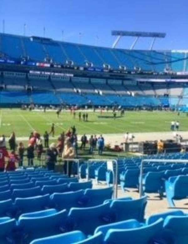 Bank of America Stadium, sección: 114, fila: 11, asiento: 3