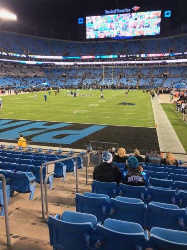 Bank of America Stadium, sección: 119, fila: 10, asiento: 21