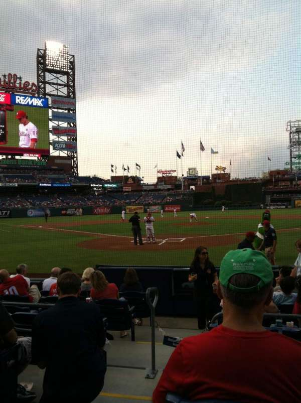 Citizens Bank Park, sección: E, fila: 2