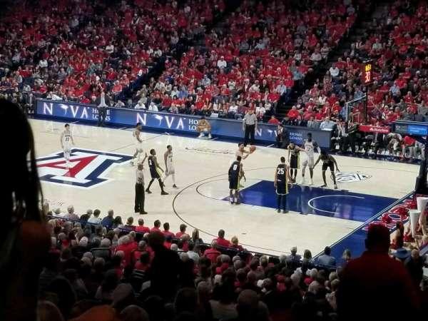McKale Center, sección: 12, fila: 29, asiento: 26