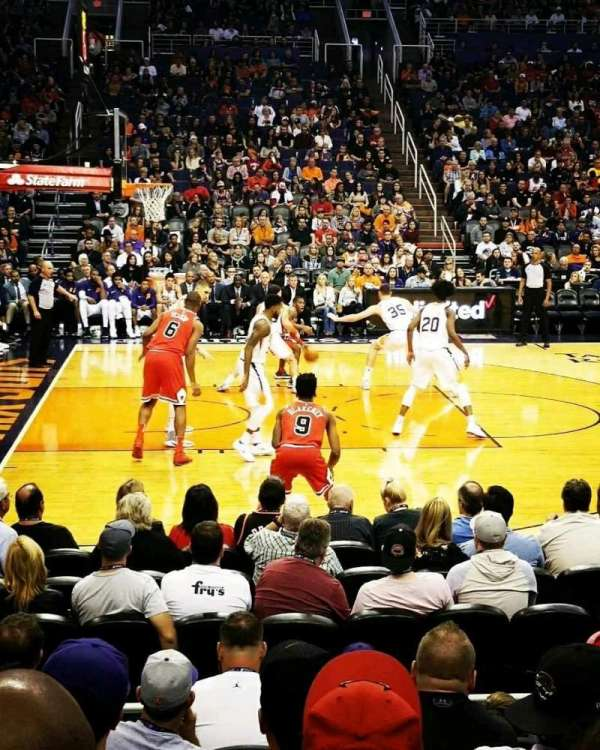 Talking Stick Resort Arena, sección: 115, fila: 8, asiento: 11