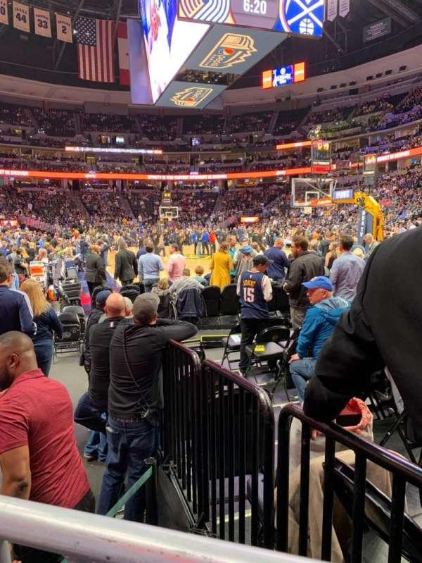 Pepsi Center, sección: 142, fila: JJ, asiento: 1