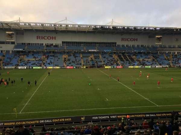 Ricoh Arena, sección: East Stand, fila: GG, asiento: 22