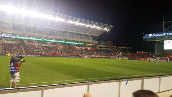 SeatGeek Stadium, sección: 109, fila: 2, asiento: 24