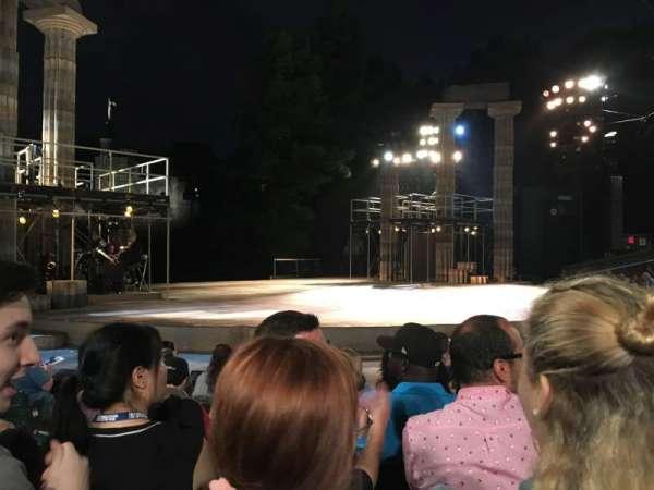 The Delacorte Theater in Central Park, sección: D, fila: F, asiento: 309