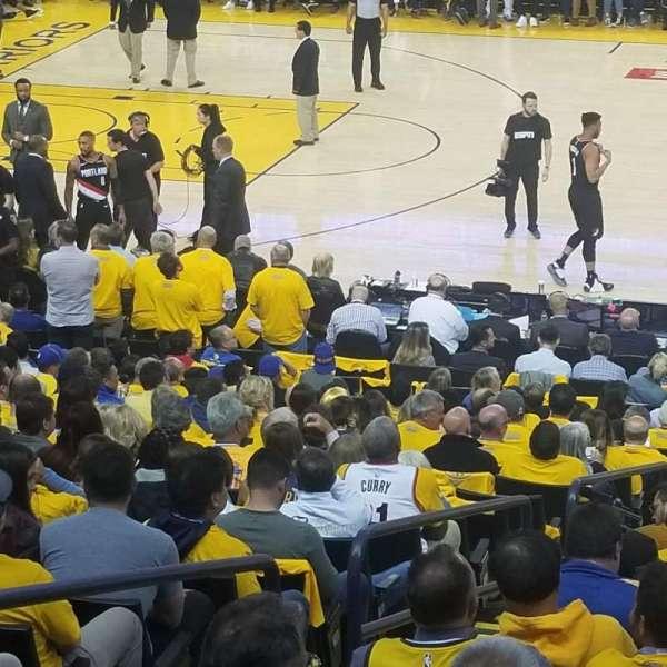 Oracle arena , sección: 128, fila: 12, asiento: 12