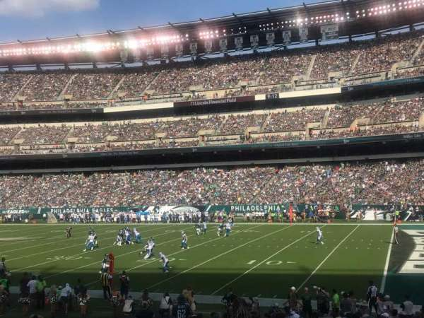 Lincoln Financial Field, sección: 105, fila: 20, asiento: 18