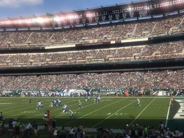Lincoln Financial Field, sección: 105, fila: 20, asiento: 18