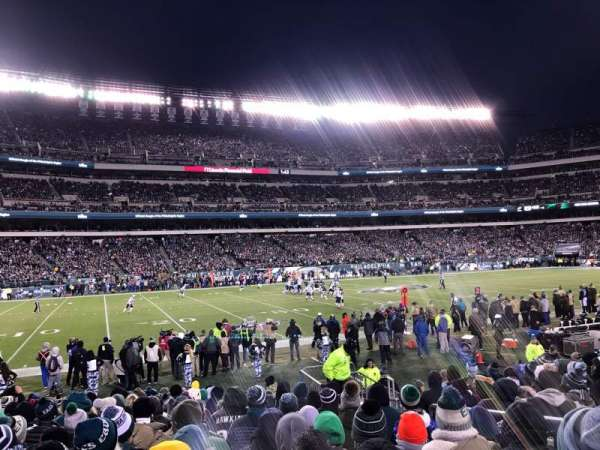 Lincoln Financial Field, sección: 136, fila: 11, asiento: 5