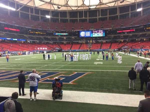 Georgia Dome, sección: 124, fila: 1, asiento: 5