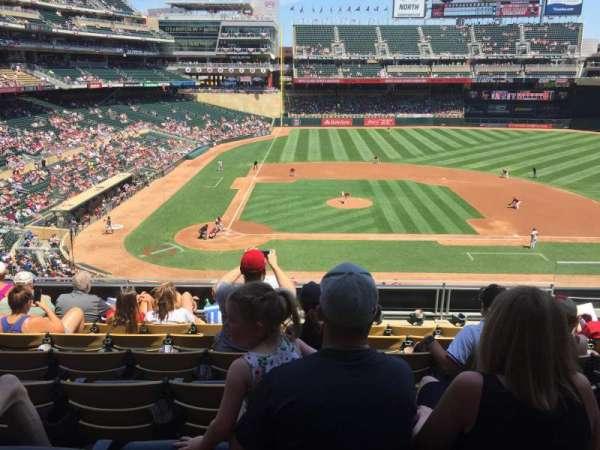 Target Field, sección: D, fila: 7, asiento: 4