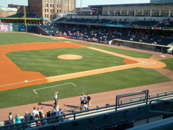 Fifth Third Field, sección: 203, fila: E, asiento: 3