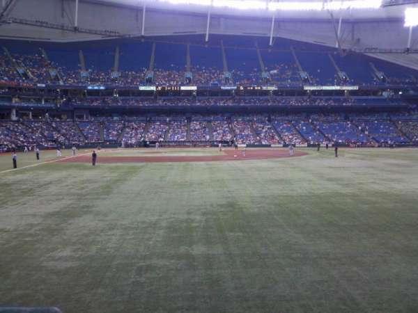 Tropicana Field, sección: 144, fila: U, asiento: 2