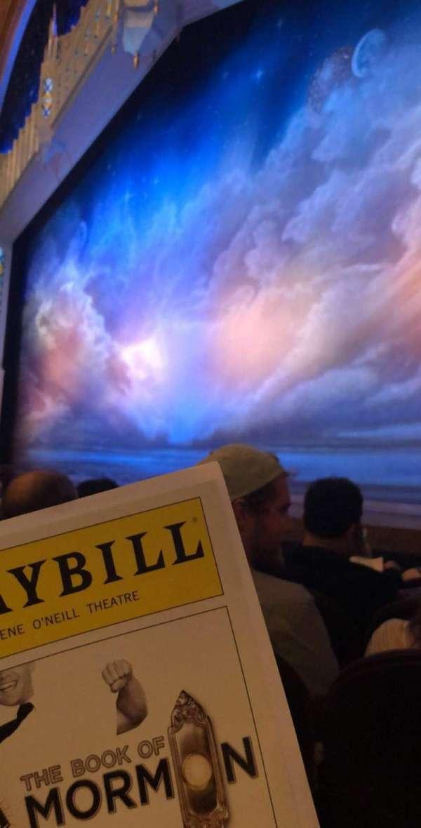 Eugene O'Neill Theatre, sección: Orchr, fila: E, asiento: 14