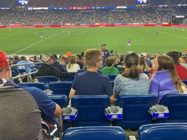 Gillette Stadium, sección: 130, fila: 15, asiento: 19