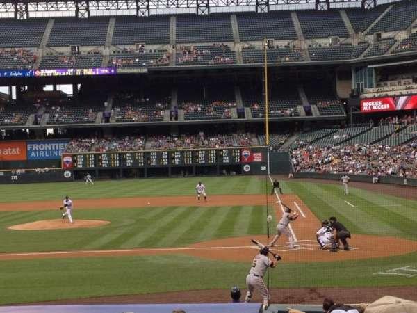 Coors Field, sección: 135, fila: 16, asiento: 6