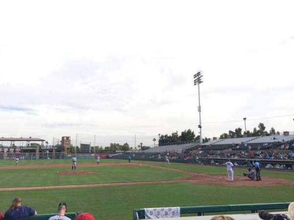 Scottsdale Stadium, sección: 111, fila: F, asiento: 5