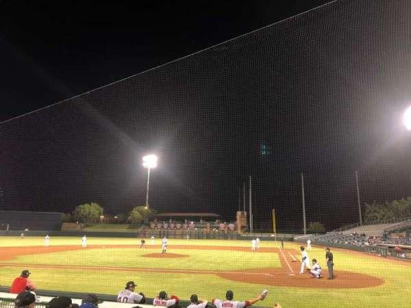 Scottsdale Stadium, sección: 105, fila: H, asiento: 6