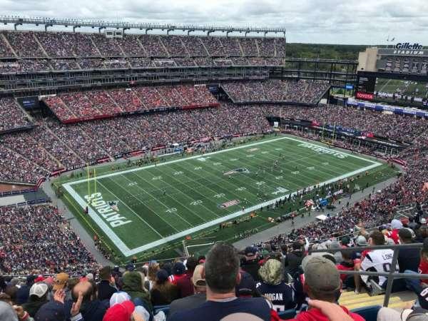Gillette Stadium, sección: 338, fila: 21, asiento: 5